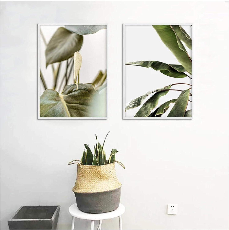 QIAOZ Wall Art Leaf Botanical quality assurance Poster Pri Canvas Nordic Las Vegas Mall