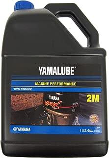 YAMAHA LUB-2STRK-M1-04 Yamalube 2M Marine 2-Stroke Oil NMMA TC-W3 Gallon; LUB2STRKM104 Made