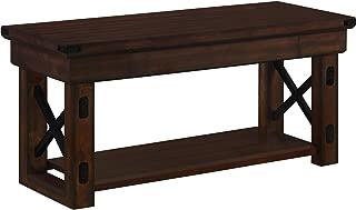 Ameriwood Home Wildwood Wood Veneer Entryway Bench, Espresso