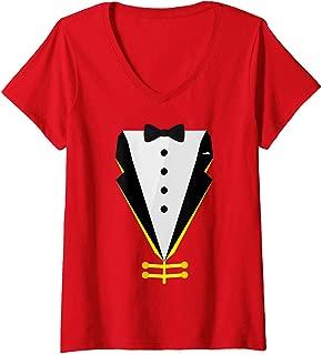 Womens Ringmaster Funny Easy Circus Costume for Men Women Boy Girl V-Neck T-Shirt