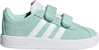 adidas Toddler VL Court 2-0 CMF Girls Fashion Sneakers Clear Mint/White/White