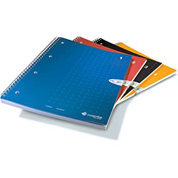 """Livescribe Single-Subject Lined Notebooks #1-4 (A4, 8.3"""" x 11.7"""", 210mm x 297mm), 4 Colors, 4 Pack"""