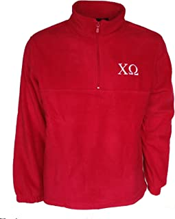 Mega_Greek Womens Chi Omega Fleece Quarter Zip Pullover