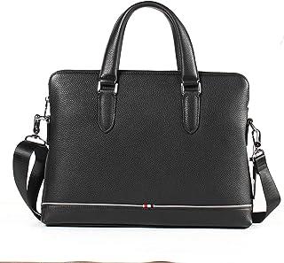 Shoulder Bags Leather Men's Handbag Square Business Briefcase 6L First Layer Leather Crossbody Bag Laptop Work Bag