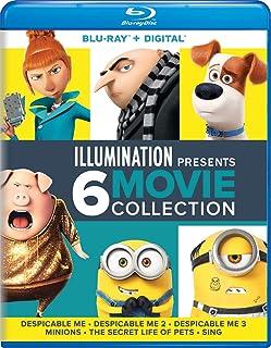 Illumination Presents: 6-Movie Collection (Despicable Me / Despicable Me 2 / Despicable Me 3 / Minions / The Secret Life of Pets / Sing) Blu-ray + Digital