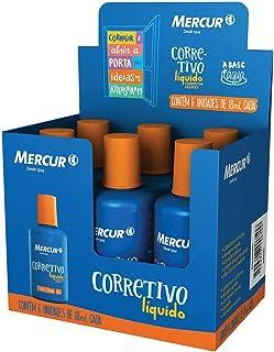 Corretivo, Mercur B01010903001, Multicor, 18 ml, Pacote de 6
