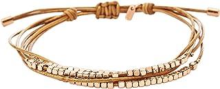 Fossil Damen zierliches Rondel Slider-Armband