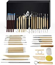 Ceramic Clay Tools, 45PCS Pottery Sculpting Tools Set for Beginners Professional Art Crafts, Wood and Steel, Schools and H...
