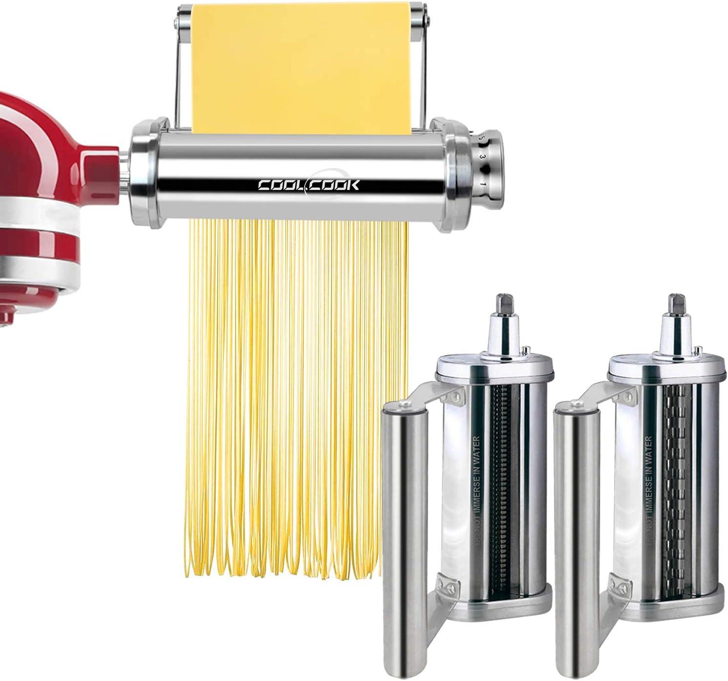 Pasta Maker Attachment Set for KitchenAid Stand Mixer with Uniqu