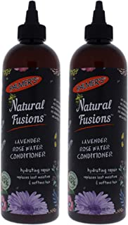Natural Fusions Lavender Rose Water Conditioner by Palmers for Unisex - 12 oz Conditioner - (Pack of 2)