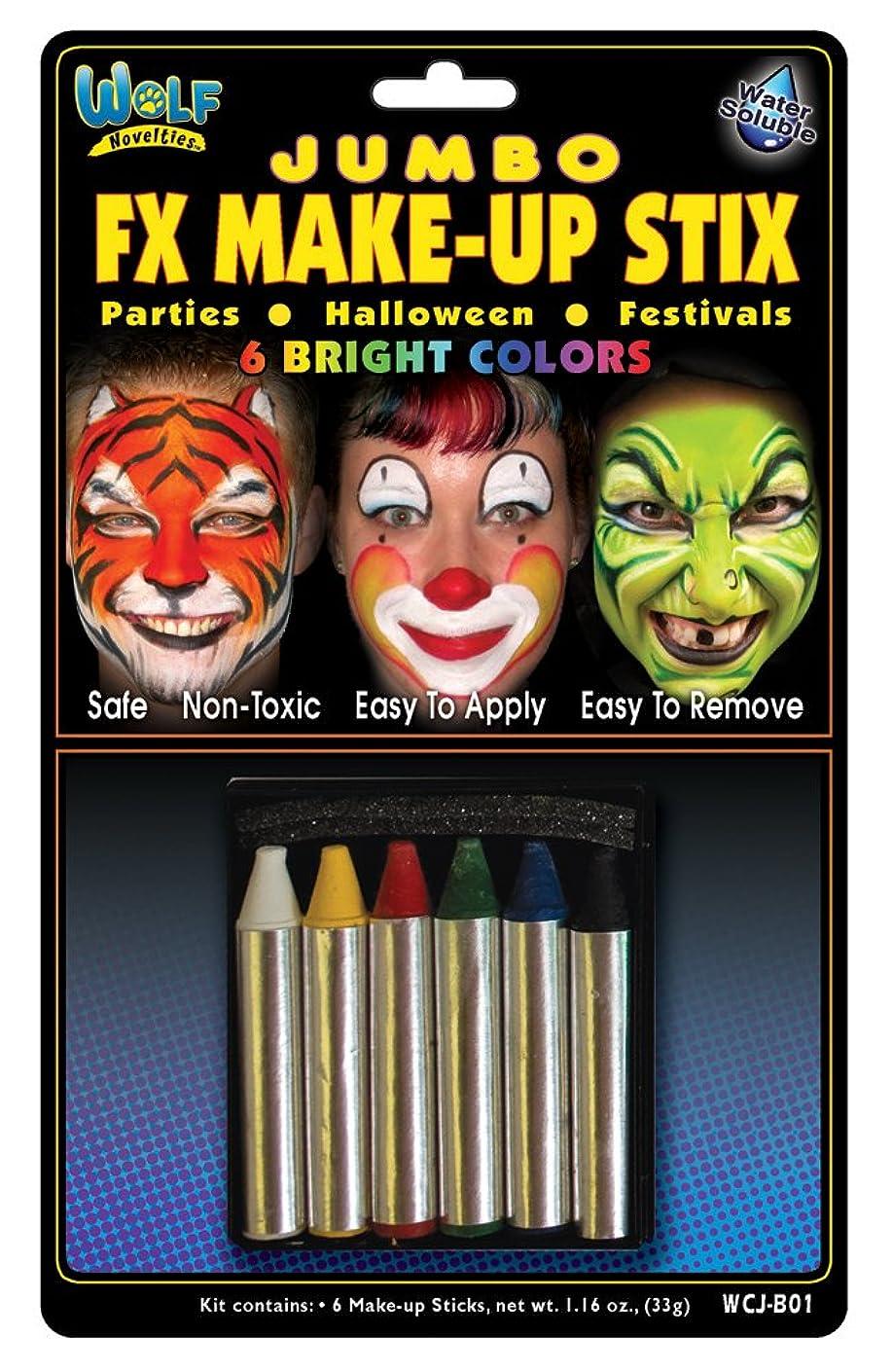 Wolfe Jumbo Bright Face Paint Crayons (6/box)