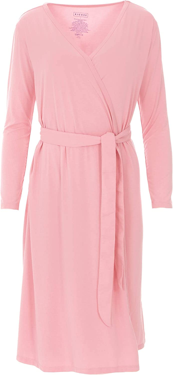 KICKEE Women's Solid Basic Robe Virginia Beach Mall - Lotus OFFicial mail order in 2XL