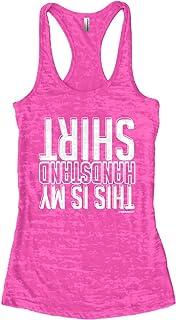 Threadrock Women`s This is My Handstand Shirt Burnout Racerback Tank Top
