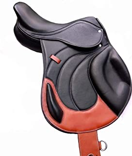 "Y&Z Enterprises New Jumping Close Contact Leather English Horse Saddle & Tack (Size- 12-18"" Inch Seat)"