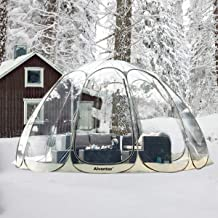 Alvantor Winter Screen House Room Camping Tent Canopy Gazebos 15-20 Person for Patios, Large Oversize Weather Pod, Premium Greenhouse Instant Pop Up Tent, Snow and Rain Protection Beige 15'×15'