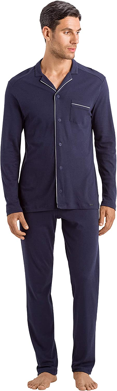 HANRO Men's Night and Day Long Set Nippon regular agency Sleeve Pajama Tucson Mall