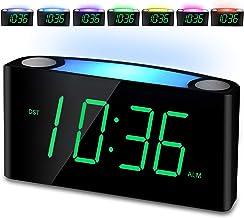 Alarm Clock, Large Number Digital LED Display with Dimmer, Night Light, USB Phone..