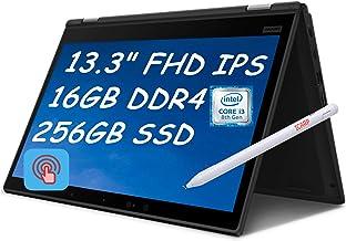 "2021 Flagship Lenovo ThinkPad L390 Yoga 2 in 1 Laptop Computer 13.3"" FHD IPS Touchscreen Display 8th Gen Intel Core i3-814..."