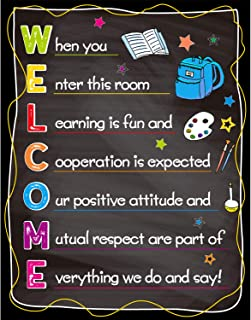 Welcome Classroom Poster Back to School Classroom Decorations Motivational Sign 11 X 14 for Preschool Middle High School C...