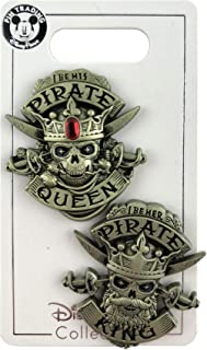 WDW Trading Pin - Pirates of the Caribbean - I Be His Pirate Queen - I Be Her Pirate King