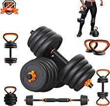 PINROYAL Adjustable Dumbbells Set,Weights Dumbbells Set - 44 66 88 Lbs Barbell Weight Set with Connecting Rod - Exercise &...