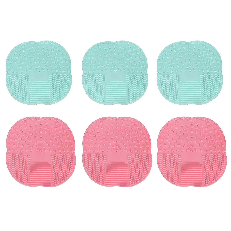 Portable Silicone 6pcs Sacramento Mall Durable Scrubber Max 77% OFF Brush Pad Makeup