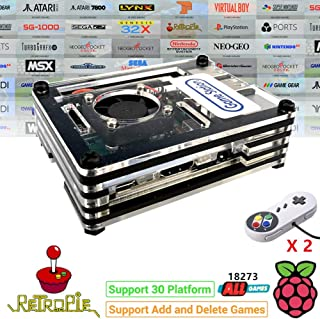 RetroPie ボックス スーパーパンドラボックス Rasperry Pi 贈18273 in 1 128GB 家庭ミニテレビゲーム機 HDMI出力 レトロゲーム サポートArcade/FC/SFC/MD/GBA/PS/N64/ NEOGEO用互換機