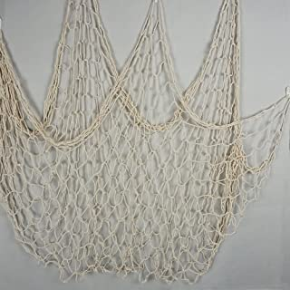 Bilipala Fishing Net Decor,Fishing Net, Wall Hangings Decor,Mediterranean Style Photographing Decoration, Creamy White