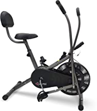 Sponsored Ad - PowerMax Fitess BU-201 Dual Action Air Bike/Exercise Bike with Back Support System for Home Workout