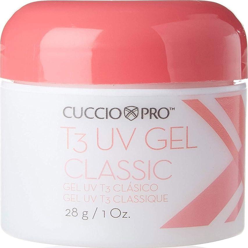 逆さまに注釈を付けるくびれたCuccio Pro T3 UV Gel Classic Pink for High Shine Natural and Artificial Nails 28g