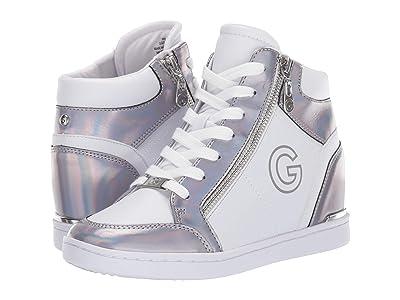 G by GUESS Dillin (White/Silver) Women