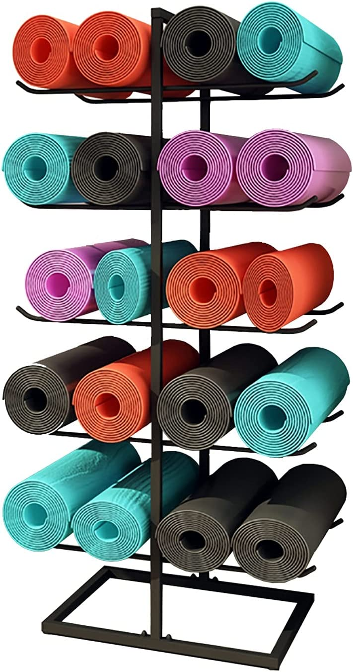 Metal Floor Yoga Long NEW before selling Beach Mall Mat Storage Cart 10 20 Hold Display Foam Stand