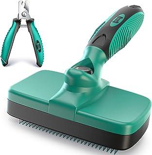 Ruff 'N Ruffus Self-Cleaning Slicker Brush | Upgraded...