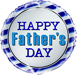 """Unique Happy Father's Day Foil Balloon, Multi, 45cm (18"""")"""