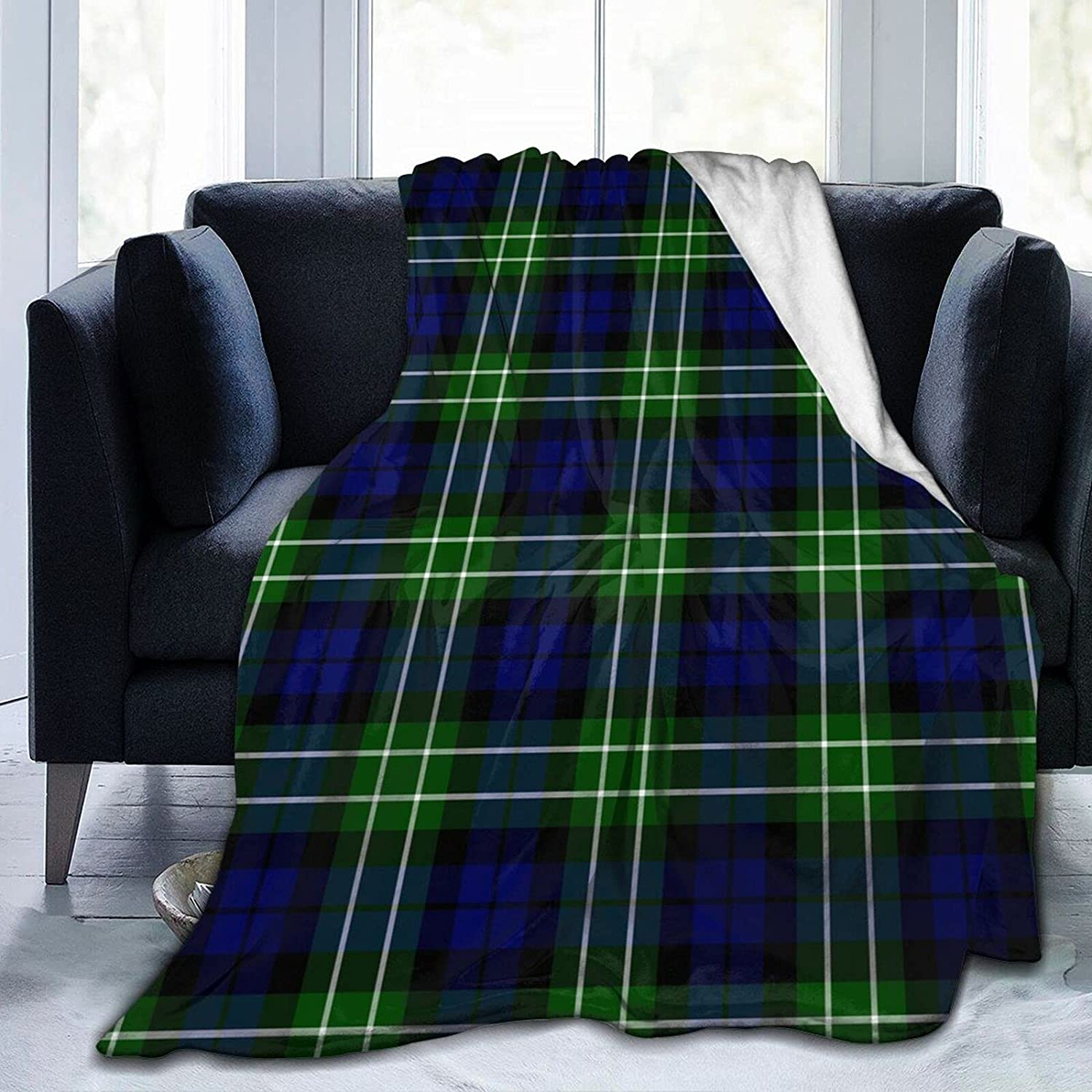 Max 85% OFF Throw Blanket Ultra-Soft Menteith Bl Tartan District Bed Max 72% OFF