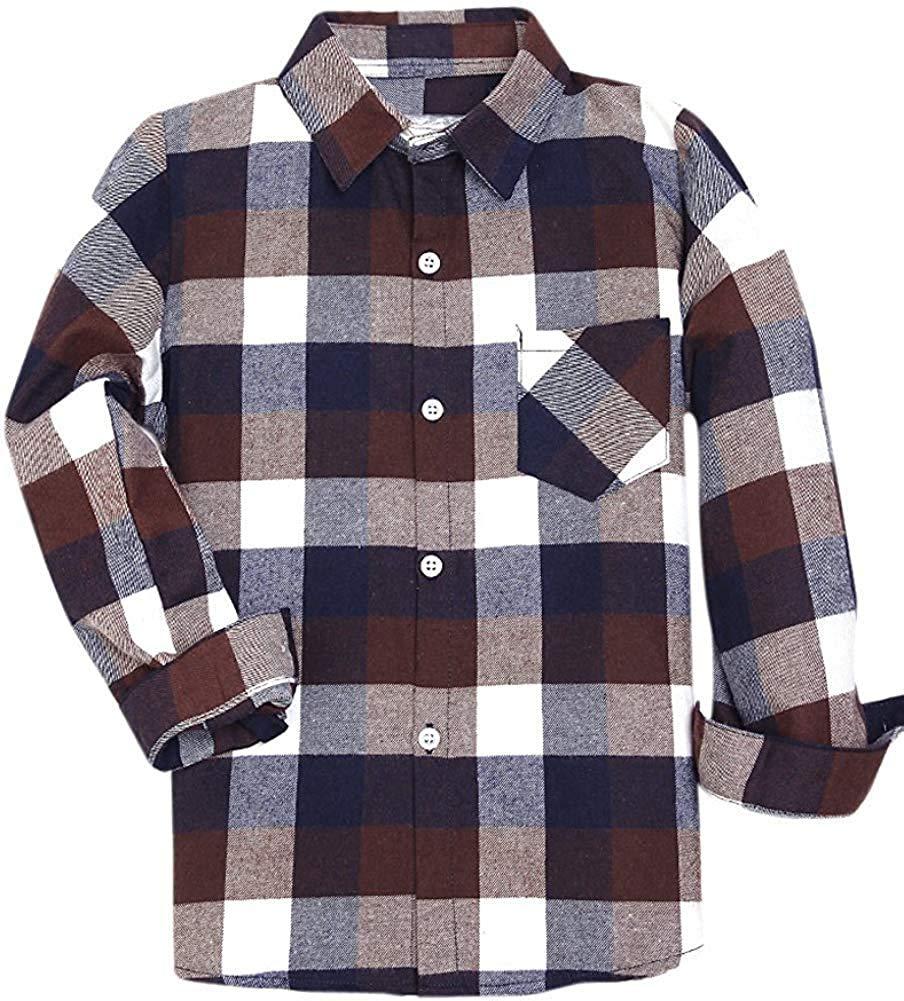 SANGTREE Boys Mens Oxfod Cotton Button Down Shirt,18M-XXL