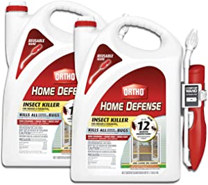 Ortho Home Defense Insect Killer for Indoor & Perimeter2 - With Comfort Wand, Long-Lasting Control, Kills Ants, Cockroaches, Spiders, Fleas & Ticks, Non-Staining, Odor Free, 1.1 gal., 2-Pack