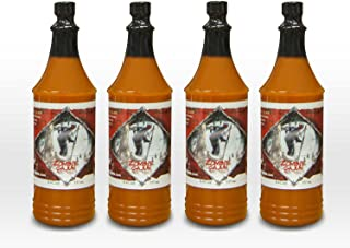 Zombie Cajun Hot Sauces - Not Just A Novelty Gift For A Zombie Apocalypse Survival Kit - Best 6 or 10oz Bottles Of Louisiana Spiced Aged Pepper Sauce For Injector Recipes, Grilling Marinades, and Seasoning Up Any Food (4 pack of 6oz)