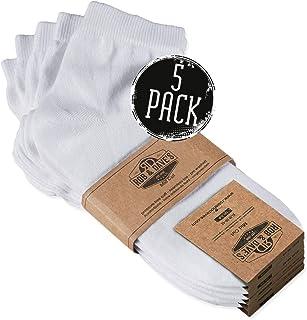 Rob & Dave's Calcetines de deporte corte medio 5 pares - Material certificado no tóxico - Negro blanco - Calcetines hombres y calcetines mujer - Calcetines deporte sin costuras incomodas ni opresión