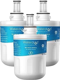 Waterdrop DA29-00003G Refrigerator Water Filter, Compatible with Samsung DA29-00003G, Aqua-Pure Plus DA29-00003B, HAFCU1, DA29-00003A, Standard, Pack of 3
