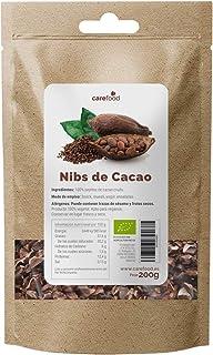 Nibs de Cacao Crudo Ecológico 200 g. Carefood   100 % Puntas de Cacao Bio del Amazonia Peruana   Natural y Puro   Sin azúc...