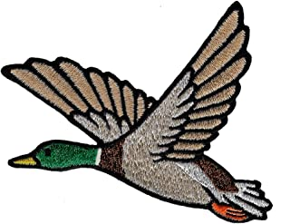 Mallard Duck Patch Embroidered Iron-On Applique Hunting Animal Souvenir