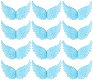 Azude Plastic Angel Wings for Crafts, Blue 12 pcs 80mm