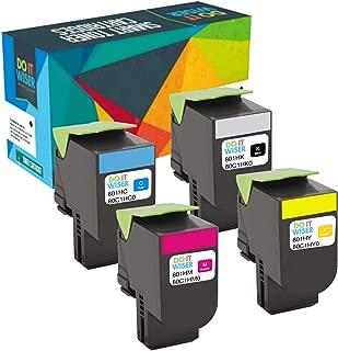 Do it Wiser Compatible Toner Cartridge Replacement for Lexmark CX410de CX510de CX410dte CX410e CX510dthe CX510dhe - 80C1HK0 80C1HC0 80C1HM0 80C1HY0-4 Pack High Yield