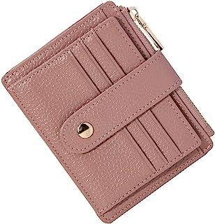 BTNEEU Porta Carte di Credito in Pelle RFID Blocco Portafoglio Sottile con Portamonete, Porta Carte di Credito con Cernier...