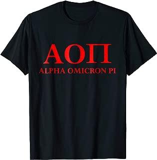 Alpha Omicron Pi Shirt Greek Life Alumni Sisters Letters USA