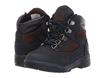 Timberland Kids 6 Fabric/Leather Field Boot (Toddler/Little Kid) (Navy Nubuck) Kids Shoes