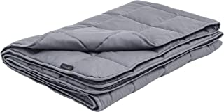 LUXOME 15lb Cooling Weighted Blanket with Integrated 300TC Bamboo Cover | Full Size | 54