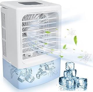 Climatiseur Portable, 4 en 1 Mini Refroidisseur d'air, Climatiseur Mobile Silencieux Ventilateur, Air Humidificateur Purif...