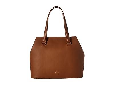 Lipault Paris Plume Elegance Large Tote Bag (Cognac) Tote Handbags